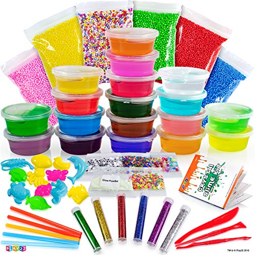 Play22 DIY Slime Kit for Kids - 18 Color Crystal Slime Making Kit, Includes...