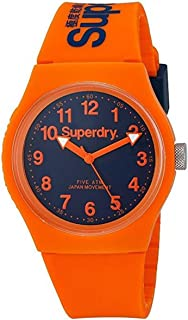 Superdry 'Urban' Quartz Plastic and Silicone Dress Watch, Color:Orange (Model: SYG164O)