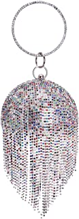 Sparkling Round Clutch Purse Women Crystal Evening Bag for Wedding Party