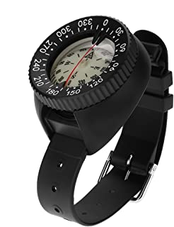 TOPINCN Waterproof Compass Diving Compass Wrist Outdoor Sports Survival Emergency Slighting Professional
