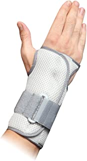 Orthomen Hand & Wrist Brace Support, Removable Splint, Prevent Wrist Injury, Palm Band, Relieve for Carpal Tunnel Syndrome,Tendonitis and Arthritis Pain (L)