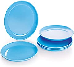 Cello Ware Half Plate6 Pieces Round - Blue