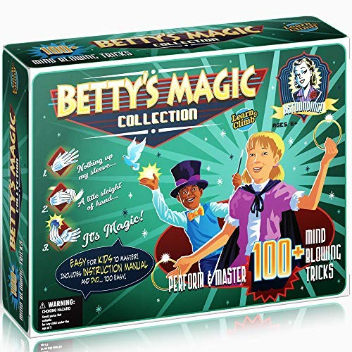 Learn & Climb Betty's Magic kit for Kids - Master Over 100 Magic Tricks Set