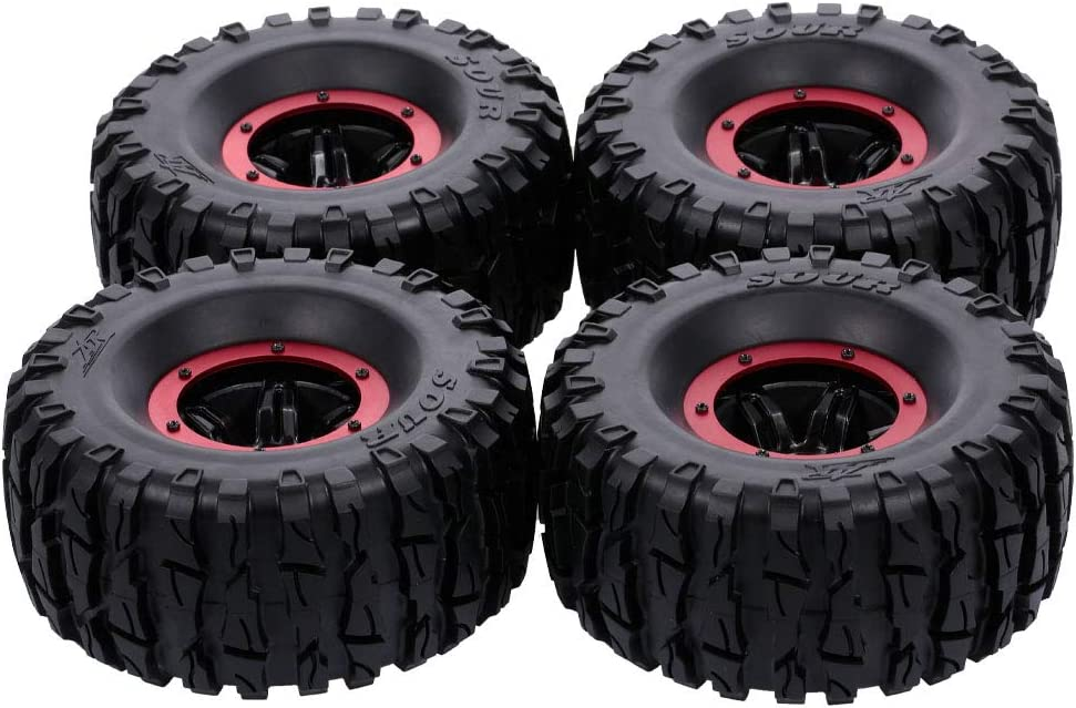 GoolRC 4pcs Ranking TOP8 135mm 2.2 Inch Rim Sale item Tire Wheel Inflatable Tyre Rubber