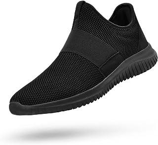 QANSI Mens Sneakers Slip-on Lightweight Athletic Running Walking Gym Shoes
