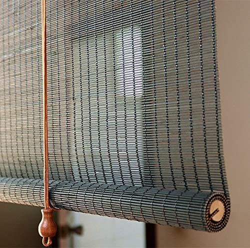 ZAQI Estores Enrollables Persianas Opacas Exteriores, persianas de bambú Grandes de Estilo japonés montadas en el Exterior, 75/85/95/105 cm de Ancho (Size : 75×140cm)