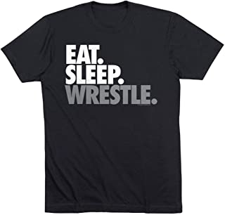 Eat Sleep Wrestle Youth T-Shirt | Wrestling Tees by ChalkTalk Sports | Multiple Colors | Youth Sizes
