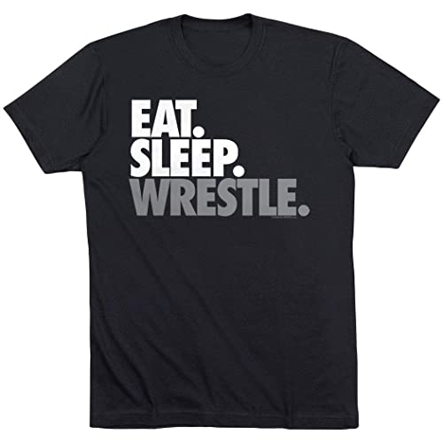 588bcc0f6 Eat Sleep Wrestle T-Shirt | Wrestling Tees by ChalkTalk SPORTS