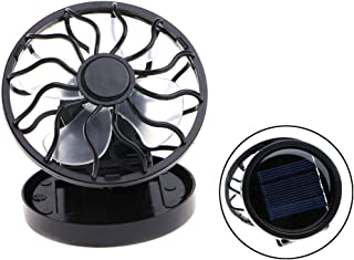 Itemap Mini Portable Clip-On Solar Panel Powered Cooling Fan for Travel Camping Fishing