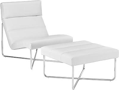 Amazon.com: Fine Mod LC4 Black Chaise Lounge Chair: Kitchen ...