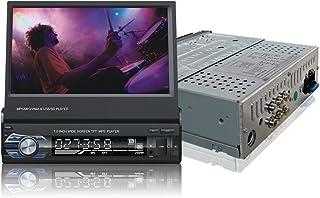 Ezonetronics Indash Autoradio Ausklappbarer 7 Zoll herausziehbarer Bildschirm 1 DIN Autoradio Stereo FM Bluetooth MP3 MP4 Player mit USB/SD Port Rückfahrkamera Eingang+Fernbedienung 9601