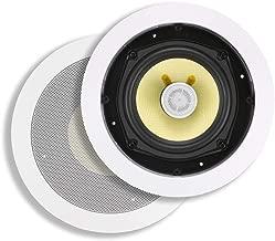 Monoprice 2 Way In-Wall Speakers - 8 Inch (Pair) With Snap-Lock, Aramid Fiber And Titanium Silk Drivers - Caliber Slim Series