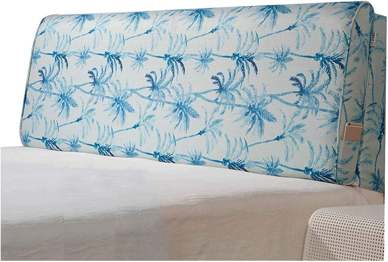 WENZHE Upholstered Headboard Pillow Bedside Cushion Wedges Backrest Waist Pad Home Hotel Waist Belt Backrest Sponge Soft Case, 4 colors, 2 Styles (color   C, Size   90x60cm)