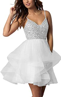 XingMeng Women's Short Dress Tulle Mini Prom Cocktail Dress Party Gown