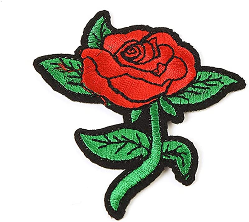 Potelin Beautiful Roses Patch 6 8 X 7 8 Cm Patch Embroidered Iron On Patches Sew On Patches Embroidery Applique