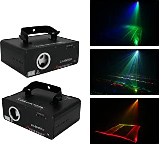Sumger 5-IN-1 RGB Animaion LED Laser Projector Light 100 Patterns DMX Stage Lighting with Sound Activated for Wedding, Disco, Dance halls, Bars, KTV, Family Party