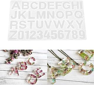 Brussels08 Moule en r/ésine /époxy 26 lettres de lalphabet en silicone pour la fabrication de bijoux couleur al/éatoire