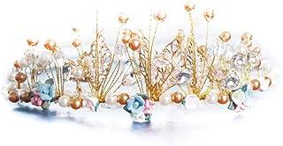 RKY Parte superiore delle ragazze, bambini Carta Fiore Headwear Accessori for capelli principessa Girls Girls trono delle ...