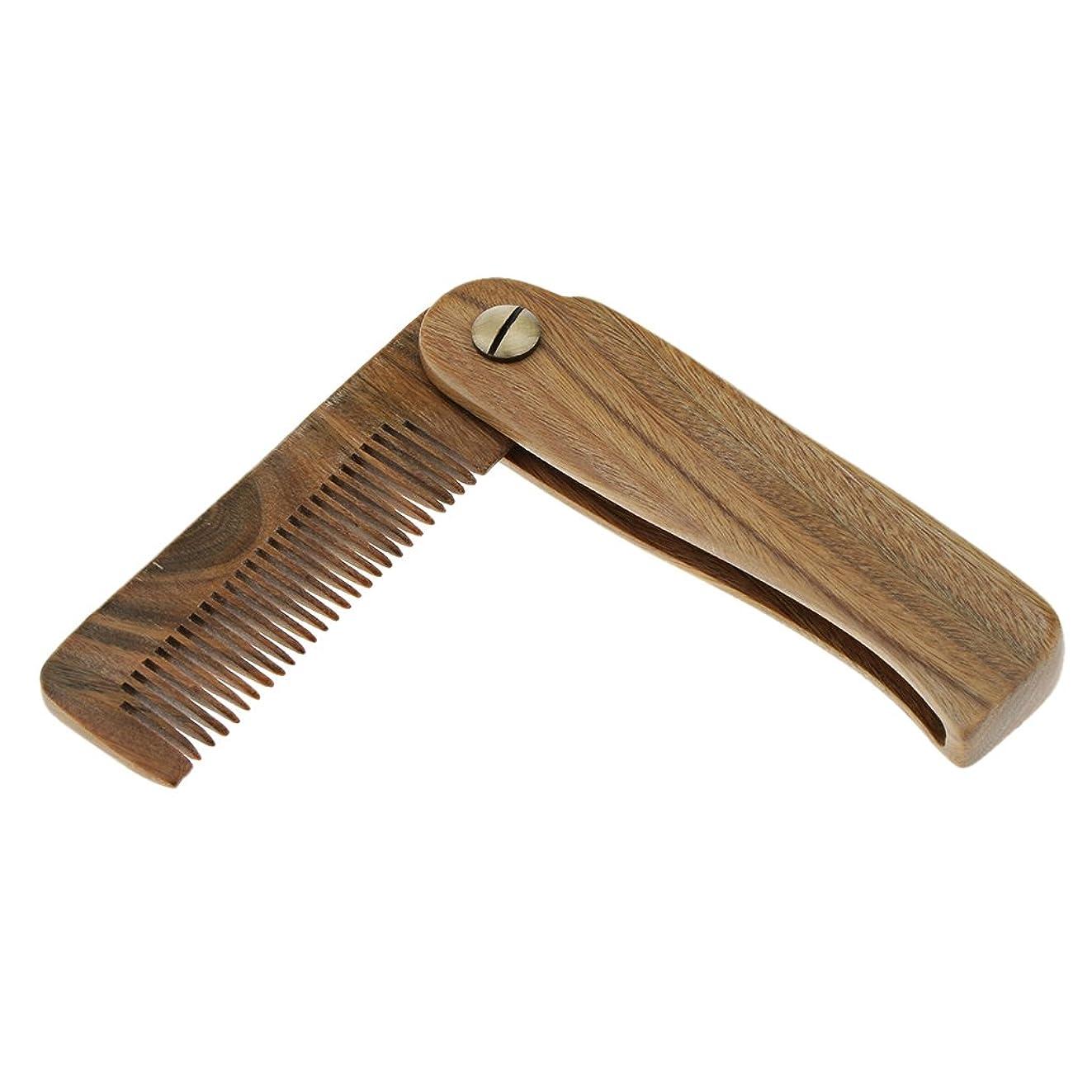 掃除項目ミットCUTICATE 木製櫛 ヘアブラシ ヘアコーム 櫛 ひげ櫛 くし 頭皮マッサージ 2タイプ選べる - A