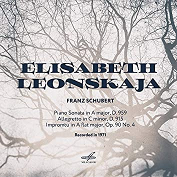 Schubert: Sonata No. 20, Allegretto in C Minor, Impromtu in A-Flat Major