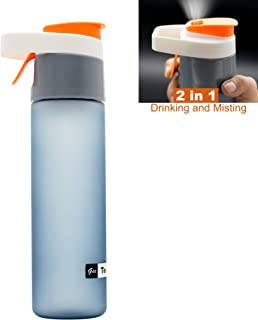 Teentumn Spray Sports Water Bottle, Drinking and Spraying Misting Bottle for Humidification and Cooling, 20oz