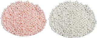 Miçangas de pérola de imitação redonda com brilho acetinado de 6 mm Homyl 1000 peças, contas ABS com orifício para fazer j...