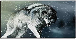 Jgophu Poster Print Canvas Painting Abstract Wolf Picture for Living Room Home Decorativo Modern Wall Art Framework 50x100cm