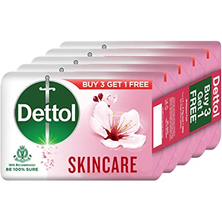 Dettol Skincare Germ Protection Bathing Soap bar 75gm, Buy 3 Get 1