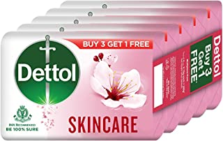 Dettol Skincare Germ Protection Bathing Soap bar 75gm, Buy 3 Get 1 Free