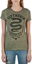 Bioworld Harry Potter Slytherin House Symbol Juniors Oil Washed T-Shirt