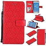 Lomogo Sony Xperia Z3 Plus (Z3+) / Z4 Case, Leather Wallet