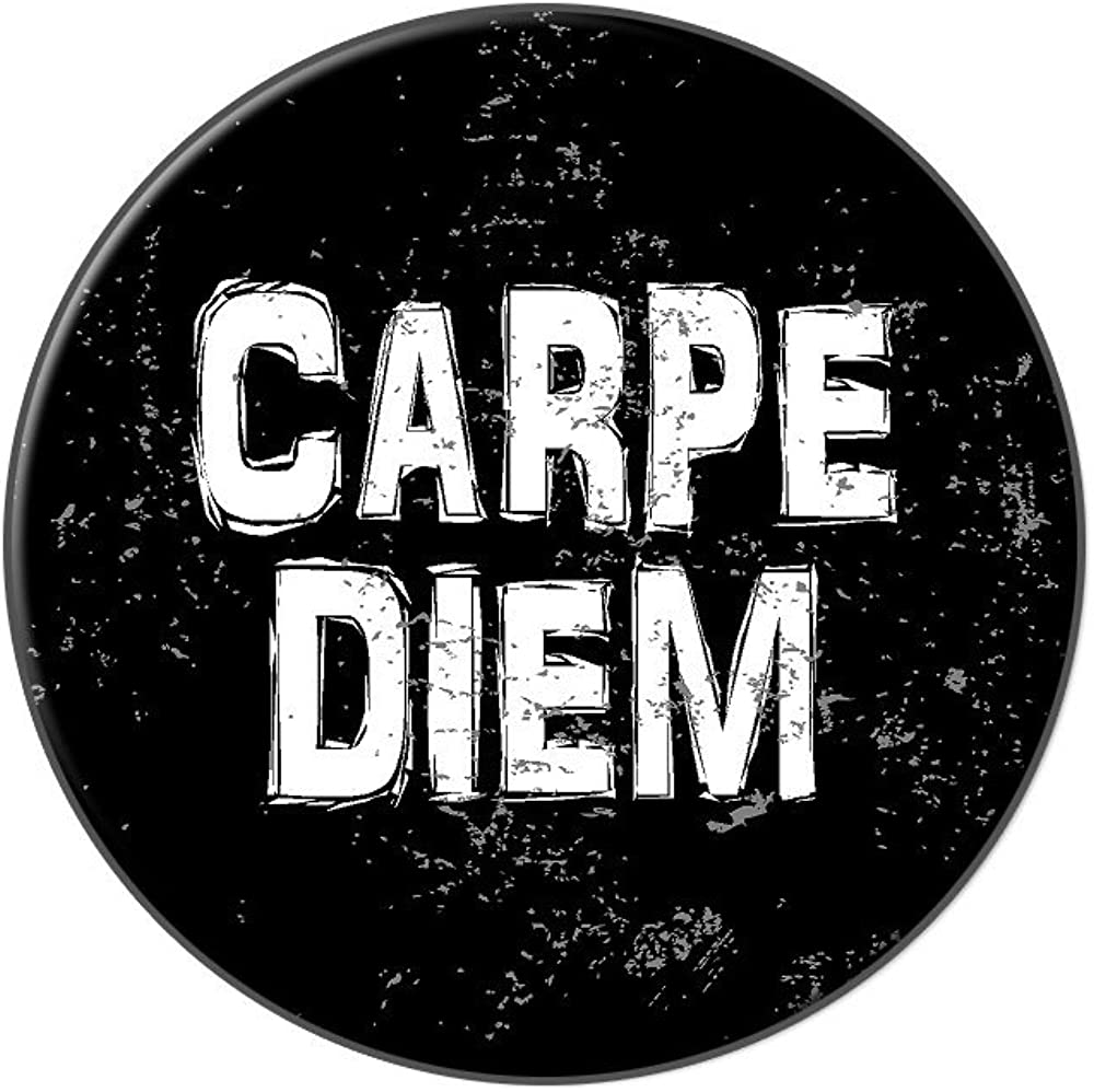 Graphics and More Carpe Diem Seize The Day Latin Inspirational Distressed - Tie Tack Hat Lapel Pin