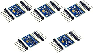 Onyehn 5Set IIC I2C GY-521 MPU-6050 MPU6050 3 Axis Analog Gyroscope Sensors + 3 Axis Accelerometer Module for Arduino with Pins 3-5V DC