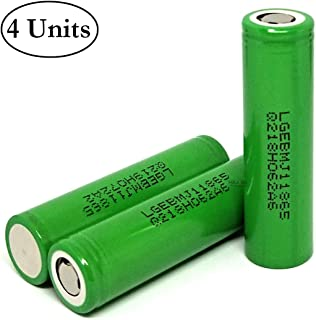 M&A BD 4pcs MJ1 3500mAh 10A 3.7V Rechargeable LG Lithium-ion Flat Top Battery for Electric Tools, Toys, LED Flashlights, Torch, and Etc