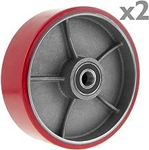PrimeMatik - Ruota per transpallet Rullo per Pallet di Poliuretano 180x50 mm 900 kg 2-Pack