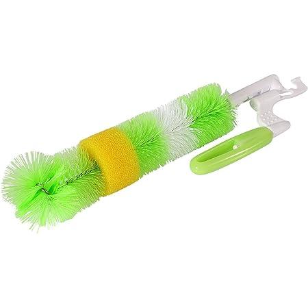 HOKIPO Plastic Bottle Cleaning Long Brush (Green)
