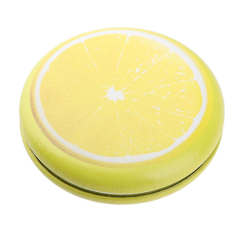 P Prettyia 折りたたみ化粧鏡 携帯用 ポケットミラー 美容鏡 3仕様選べ - イエロー - レモン