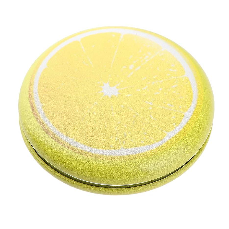 立場カーフ確執P Prettyia 折りたたみ化粧鏡 携帯用 ポケットミラー 美容鏡 3仕様選べ - イエロー - レモン