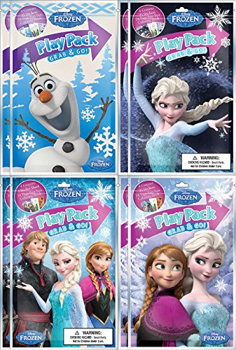 Disney Frozen BashBox Play Pack Grab and Go Children's Coloring and Activity Party Favor Bundle (8 Packs)