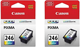 Canon 2 Pack CL-246 Color Ink Cartridge for PIXMA MG Inkjet Printers - 9ml