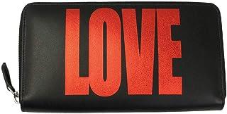 GIVENCHY (ジバンシー)ラウンドファスナー長財布 LOVEプリント レザー ブラック×レッド BC06340780 009 [並行輸入品]