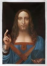 Salvator Mundi - Leonardo da Vinci high quality hand-painted oil painting reproduction,Portrait of Christ by the Renaissance,Savior of the World painting