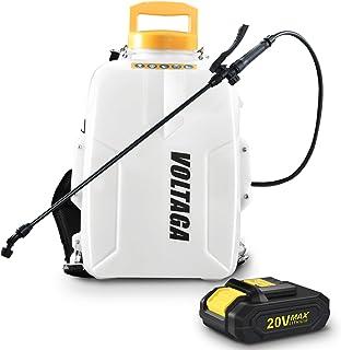 VOLTAGA 電動噴霧器 20V 2000mAh充電式噴霧器 11.3Lタンク背負式 チューブ調節可能 連続噴霧ロック 圧力調整機能 0.28Mpaから0.48Mpaに切替できます 連続100-220L散布できます 多用途 除草 肥料 散水 ...