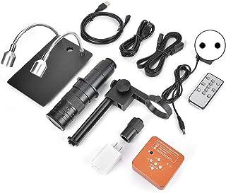8-130X Microscoop Camera Industriële microscoopkit met 56 LED-ringverlichting met 100x C-Mount Len voor lassen(100-240V, E...