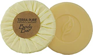 Terra Pure Bar Soap, Travel Size Hotel Amenities, 1.25 oz (Pack of 10)