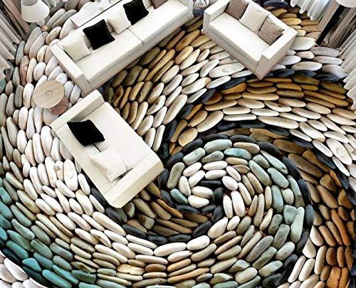 Papel tapiz para pisos 3d, baldosas personalizadas, guijarros románticos, suelo de pvc 3d, dormitorio, baño, piscina-250 * 175cm