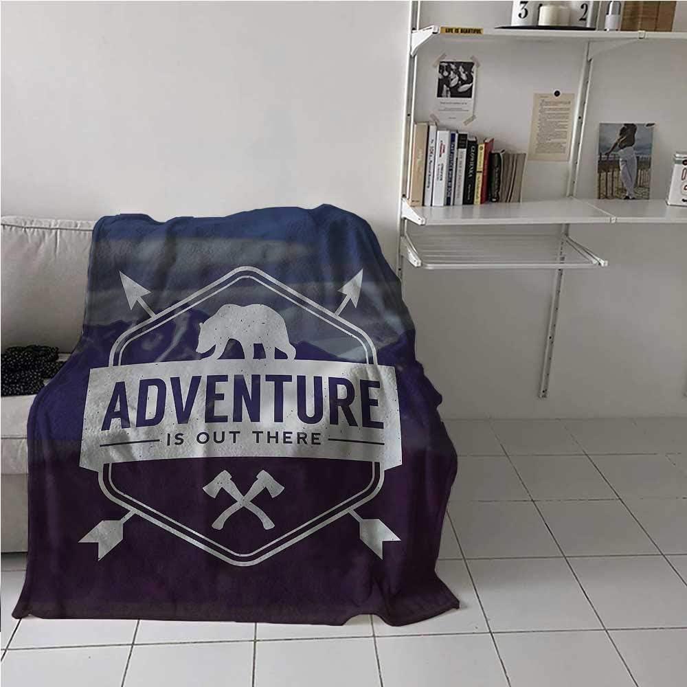 Flannel Blanket Throw 安い Adventure Higher End Bear M 至高 Throws