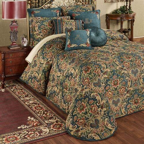 Why Choose Touch of Class Casanova Grande Bedspread Dark Teal