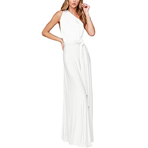 f18476d468 Womens Sexy Convertible Multi Way Wrap Transformer Infinity Solid Cocktail  Off Shoulder Wedding Bridesmaid Evening Long