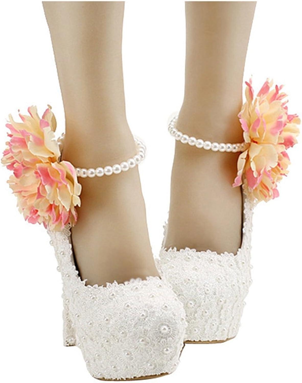 Miyoopark LL182 Women's Flower Bridal Bridesmaid Wedding Evening Pumps shoes